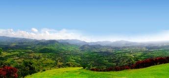 Vista panoramica della pianura verde fotografie stock