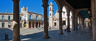 Vista panoramica della plaza della cattedrale Fotografie Stock