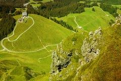 Vista panoramica della sommità dal picco di Kitzbuhel, Tirolo, Austria Immagini Stock