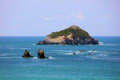 Vista panoramica della spiaggia del parco nazionale di Manuel Antonio in Costa Rica, la maggior parte di belle spiagge nel mondo Fotografie Stock