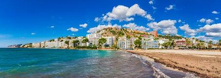 Spiaggia santa ponsa della spagna maiorca immagine stock - Alla colorazione della spiaggia ...