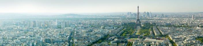 Vista panoramica della torre Eiffel, Parigi, Francia, Europa Immagine Stock Libera da Diritti