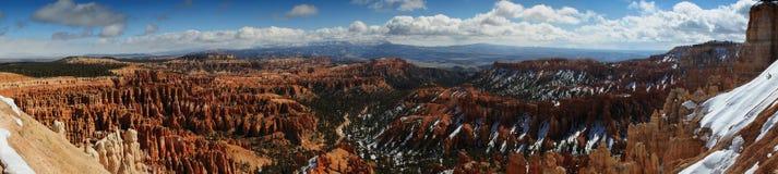 Vista panoramica della valle del canyon di Bryce Immagini Stock