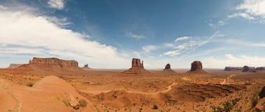 Vista panoramica della valle del monumento Fotografia Stock