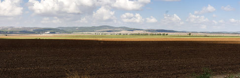 Vista panoramica della valle di Jezreel Fotografia Stock