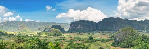 Vista panoramica della valle di Vinales in Cuba Immagini Stock Libere da Diritti