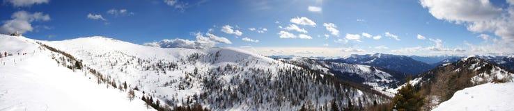 Vista panoramica delle alpi Fotografie Stock Libere da Diritti