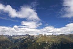 Vista panoramica delle alpi Fotografia Stock Libera da Diritti
