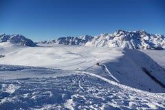 Vista panoramica delle alpi Fotografie Stock