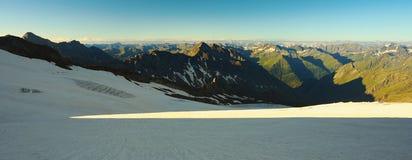 Vista panoramica delle alpi Immagine Stock Libera da Diritti
