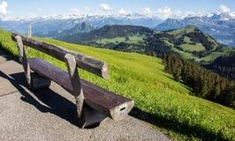 Vista panoramica delle alpi dalla cima di Rigi Kulm, Svizzera Immagine Stock