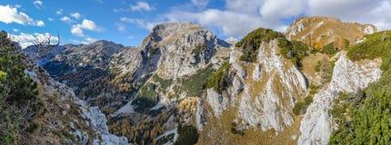 Vista panoramica delle alpi di Julian Fotografia Stock