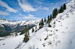 Vista panoramica delle alpi di Urner Immagini Stock
