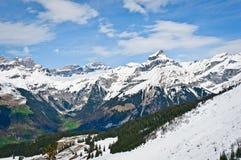 Vista panoramica delle alpi di Urner Fotografia Stock