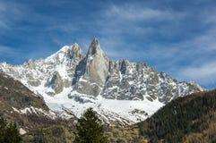 Vista panoramica delle alpi francesi Fotografie Stock Libere da Diritti