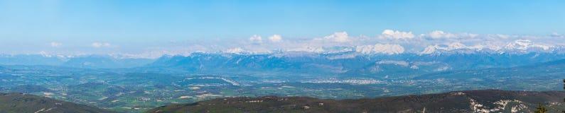 Vista panoramica delle alpi francesi Fotografia Stock Libera da Diritti
