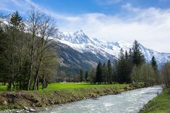 Vista panoramica delle alpi francesi Immagini Stock Libere da Diritti