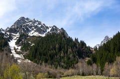 Vista panoramica delle alpi francesi Immagini Stock