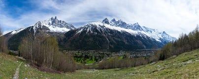 Vista panoramica delle alpi francesi Immagine Stock Libera da Diritti