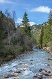 Vista panoramica delle alpi francesi Fotografie Stock