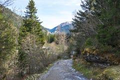 Vista panoramica delle alpi francesi Fotografia Stock