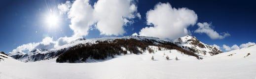 Vista panoramica delle alpi italiane Fotografie Stock