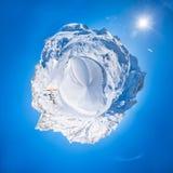 vista panoramica 360 delle alpi italiane Fotografia Stock Libera da Diritti