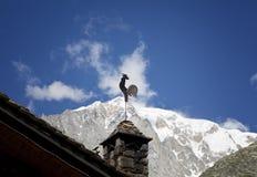 Vista panoramica delle alpi occidentali Paesaggio italiano di estate di Mont Blanc del lato Mont Blanc è il più alto picco delle  Immagine Stock Libera da Diritti