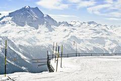 Vista panoramica delle alpi svizzere Fotografia Stock Libera da Diritti