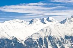 Vista panoramica delle alpi svizzere Fotografie Stock Libere da Diritti