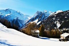 Vista panoramica delle alpi svizzere Fotografie Stock