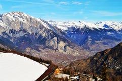 Vista panoramica delle alpi svizzere Immagine Stock Libera da Diritti