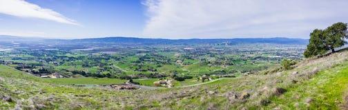 Vista panoramica delle città della valle del sud fotografia stock