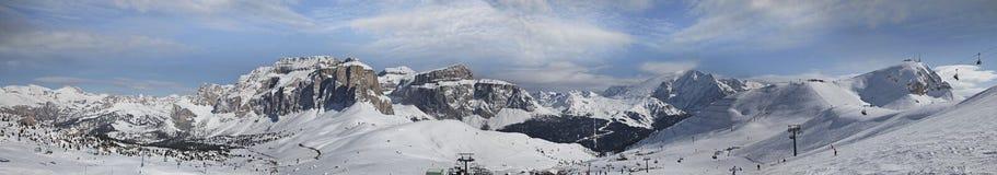 Vista panoramica delle dolomia, Italia Immagine Stock