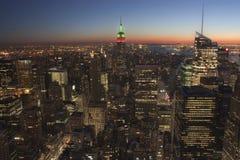 Vista panoramica delle Empire State Building Immagini Stock