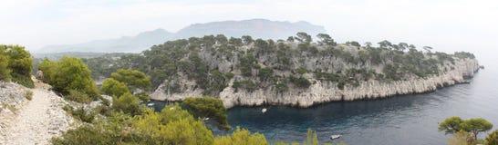 Vista panoramica delle insenature di Cassis Immagine Stock Libera da Diritti