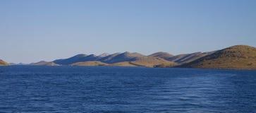 Vista panoramica delle isole di Kornati Fotografia Stock