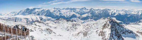 Vista panoramica delle montagne Immagini Stock Libere da Diritti