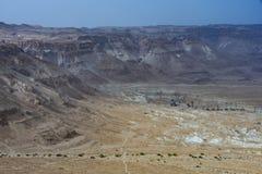 Vista panoramica delle montagne del deserto di Judean l'israele fotografie stock libere da diritti