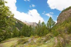 Vista panoramica delle montagne del parco di Gran Paradiso, Italia Immagini Stock Libere da Diritti