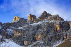 Vista panoramica delle montagne delle dolomia Fotografia Stock Libera da Diritti