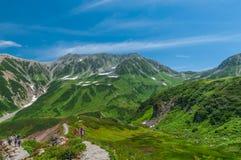 Vista panoramica delle montagne di estate Fotografia Stock Libera da Diritti