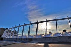 Vista panoramica dello stadio di football americano principale di Kiev fotografie stock