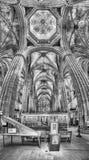Vista panoramica dentro la cattedrale di Barcellona, Catalogna, Spagna Immagini Stock Libere da Diritti
