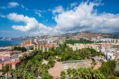 Vista panoramica di Almuñécar Almunecar un bello giorno Fotografia Stock