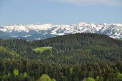 Vista panoramica di Alpes Immagini Stock