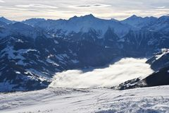 Vista panoramica di Alpes Immagine Stock