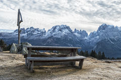 Vista panoramica di Alpes Fotografie Stock