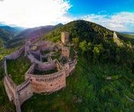 Vista panoramica di alta risoluzione del castello medievale San-Ulrich Fotografie Stock