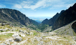 Vista panoramica di alte colline di Tatras Fotografia Stock